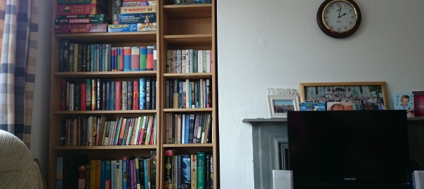 The pleasures of new bookshelves
